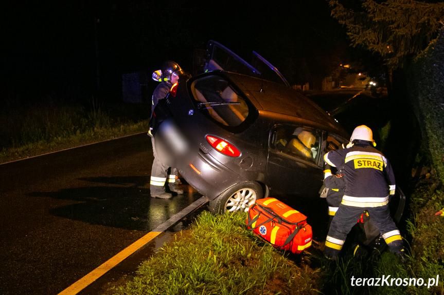 Wypadek na Karpackiej w Zręcinie