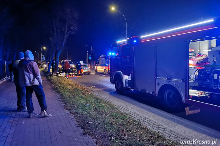 Wypadek na Krakowskiej w Krośnie