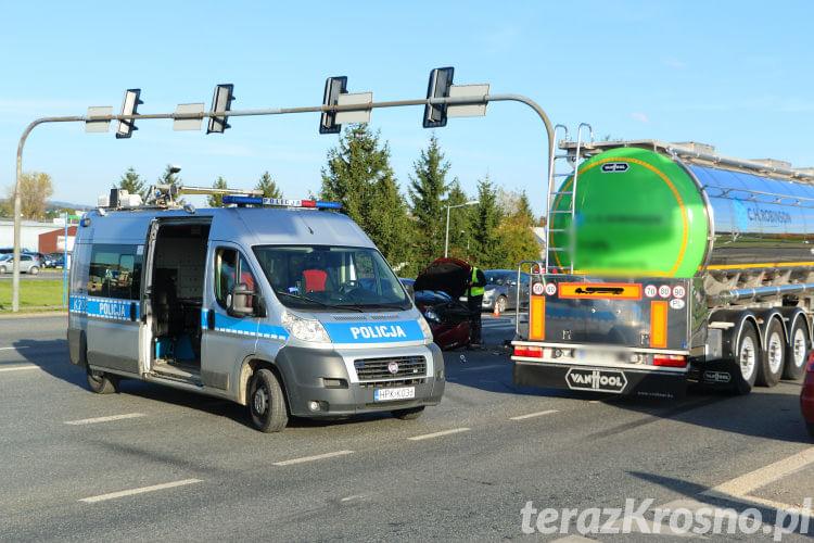 Wypadek na skrzyżowaniu Podkarpackiej