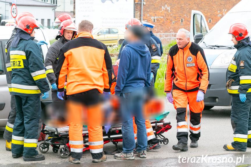 Wypadek na skrzyżowaniu w Krośnie