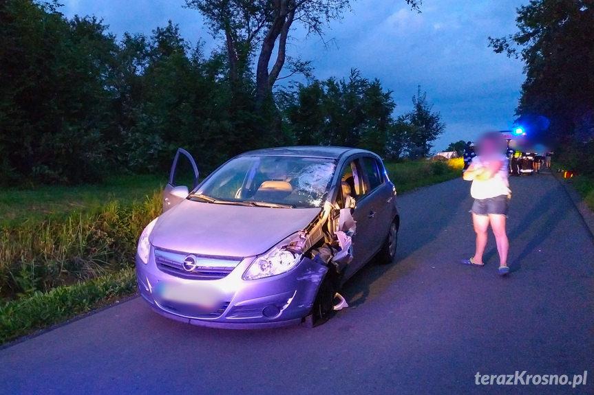 Wypadek na Spokojnej w Korczynie
