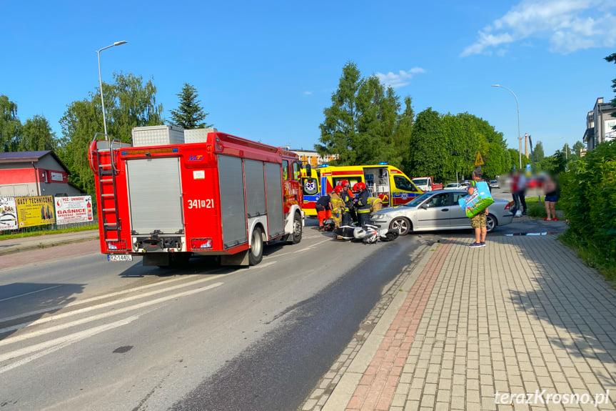 Wypadek na Tysiąclecia w Krośnie
