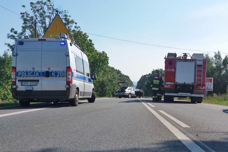 Wypadek na ul. Bieszczadzkiej