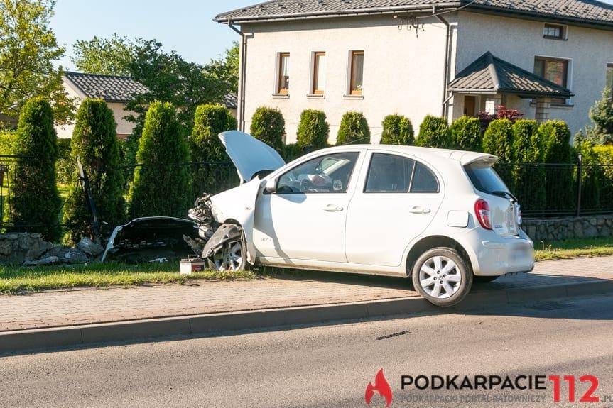 Wypadek na ul. Brzozowej w Jedliczu