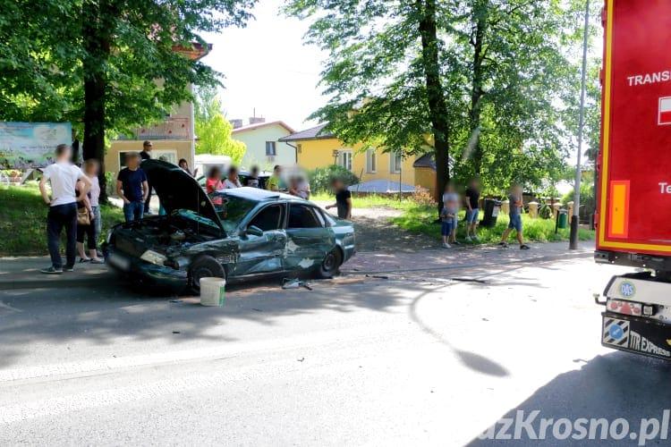 Wypadek na ul. Korczyńskiej w Krośnie