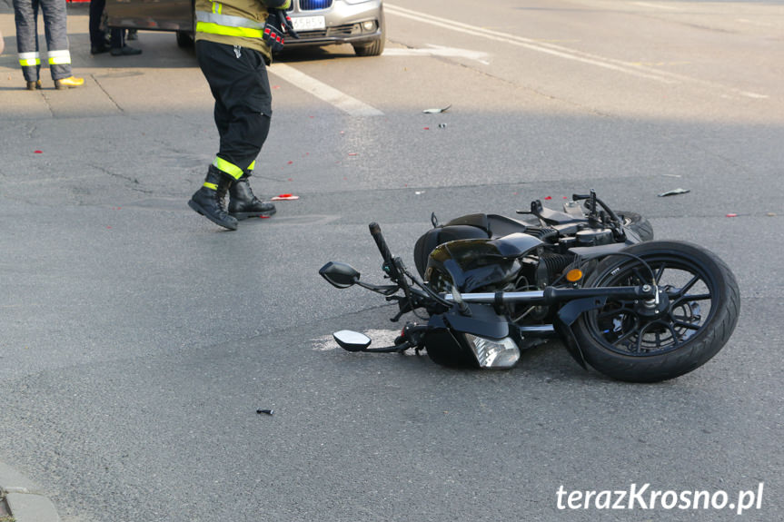 Wypadek na ul. Krakowskiej w Krośnie