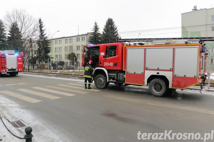 Wypadek na ul. Pużaka w Krośnie