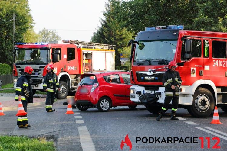 Wypadek na ul. Rzeszowskiej