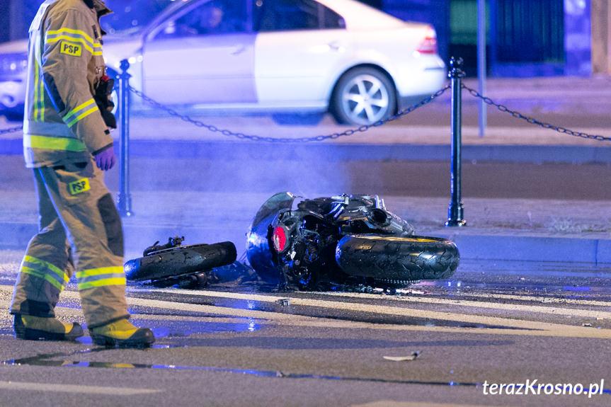 Wypadek na ulicy Podwale w Krośnie