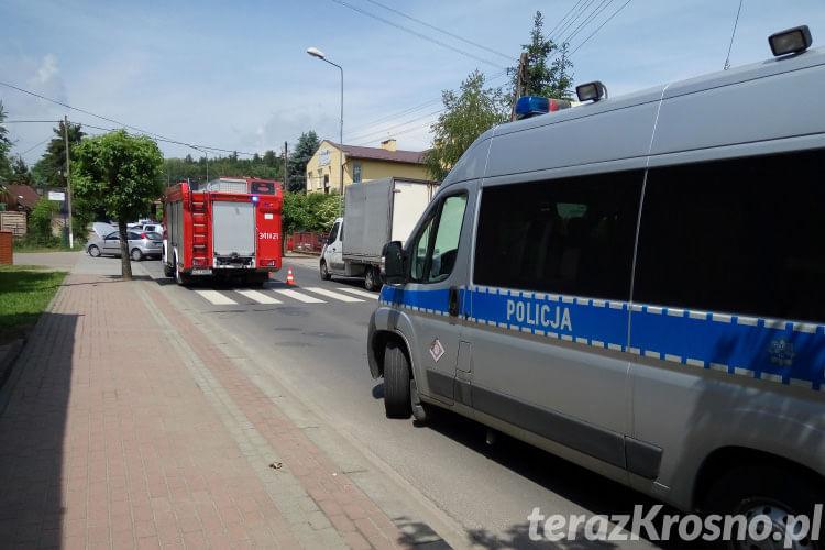 Wypadek na Żółkiewskiego w Krośnie