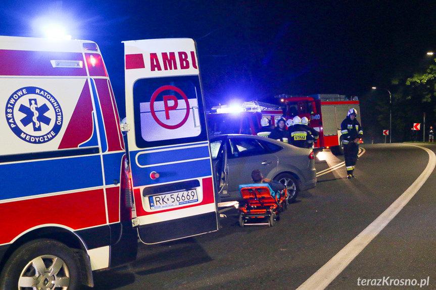 Wypadek w Klimkówce na DK28