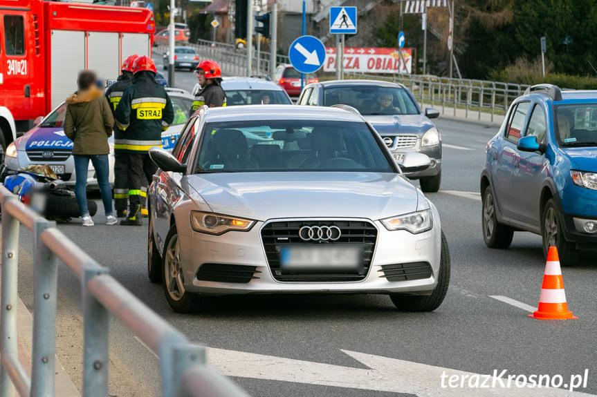 Wypadek w Krośnie