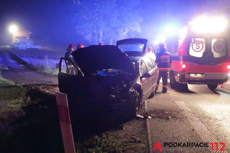 Wypadek w Krośnie na ul. Bieszczadzkiej