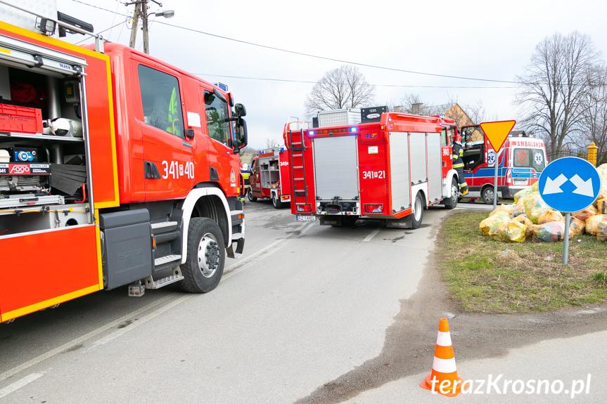 Wypadek w Łękach Strzyżowskich