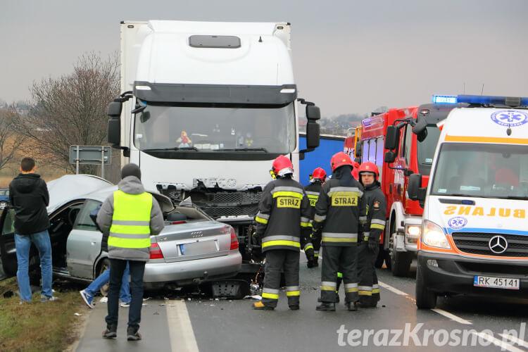Wypadek w Łężanach