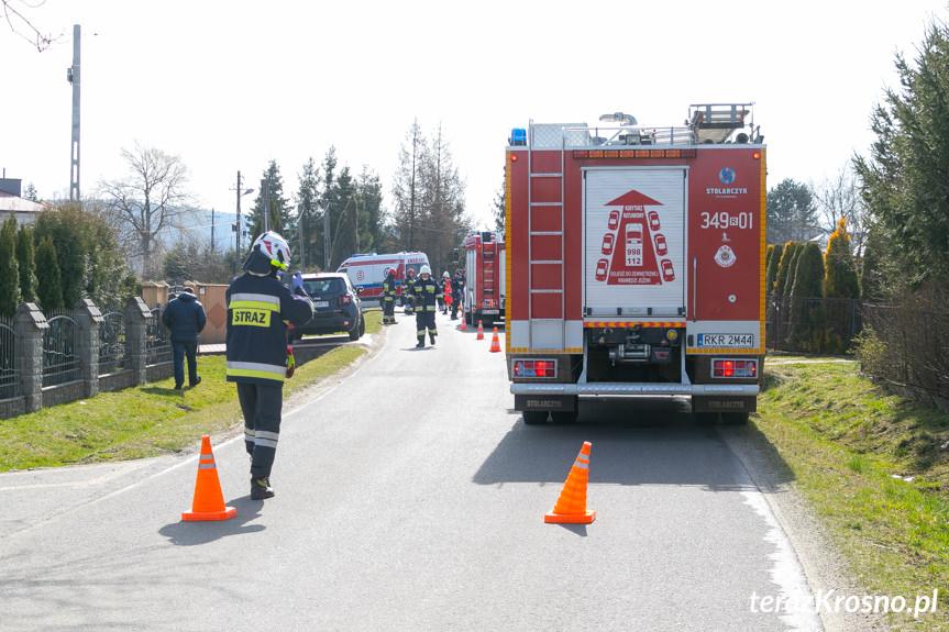 Wypadek w Zręcinie na ul. Żegleckiej