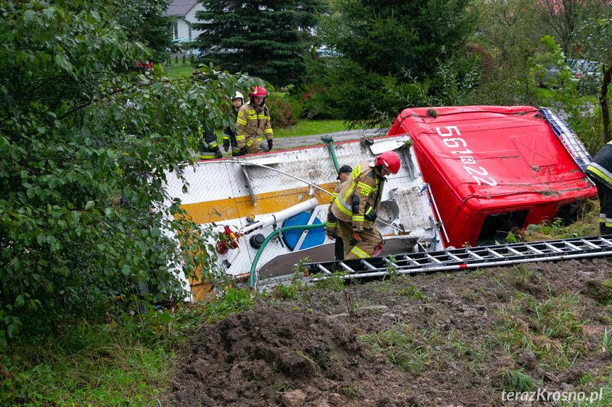 Wypadek wozu strażackiego PSP JRG Strzyżów