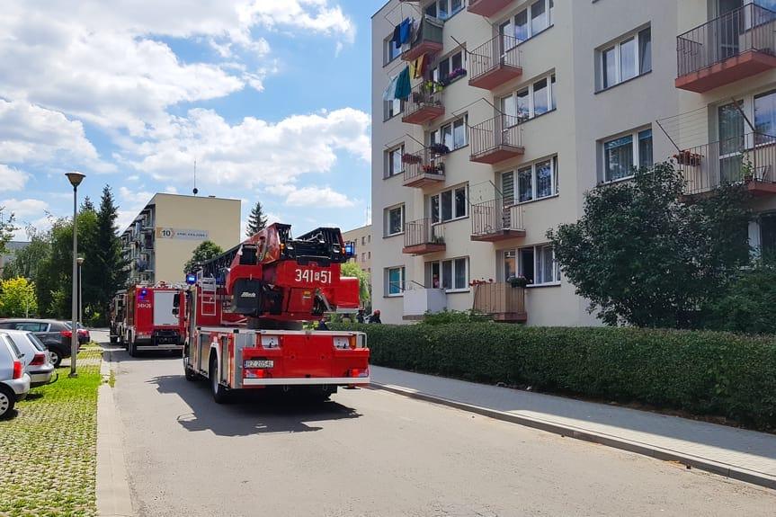 Zadymienie w mieszkaniu w Krośnie