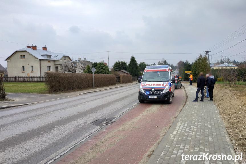 Zderzenie 3 samochodów na Krośnieńskiej
