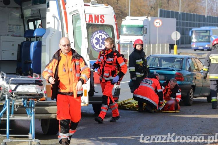 Zderzenie 4 samochodów w Krośnie