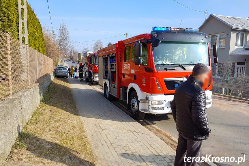 Zderzenie busa i osobówki w Iwoniczu-Zdroju
