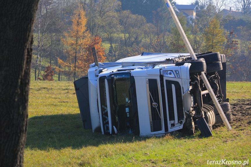 Zderzenie ciężarówek w Barwinku