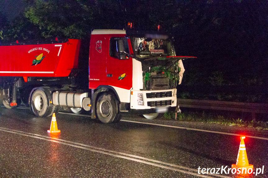 Zderzenie ciężarówek w Dukli