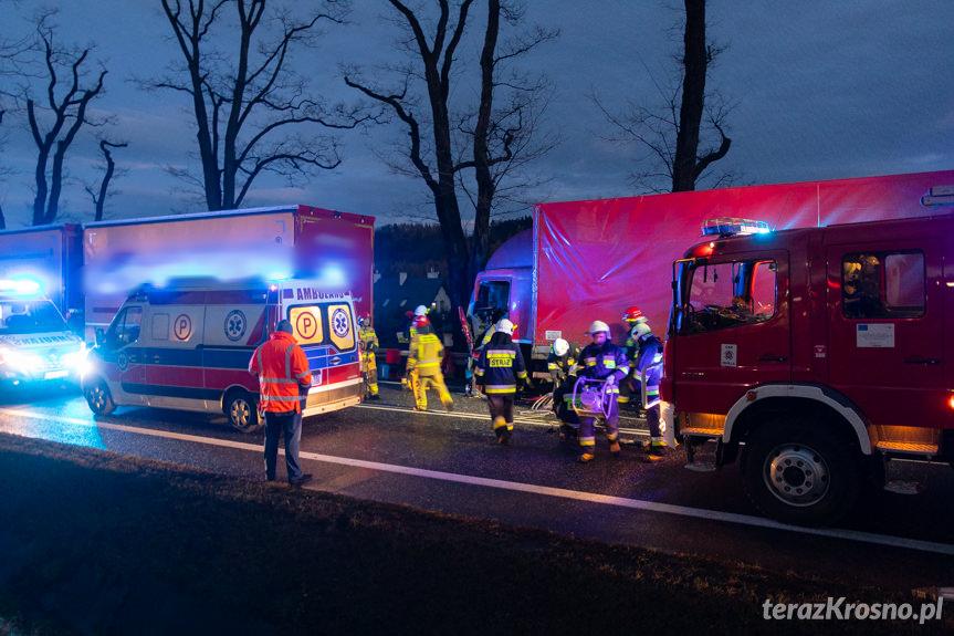Zderzenie ciężarówek w Zboiskach