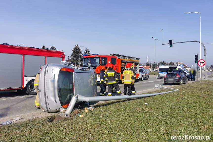 Zderzenie dwóch samochodów na Bieszczadzkiej