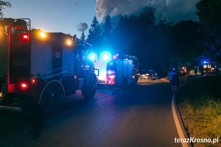 Zderzenie dwóch samochodów w Korczynie