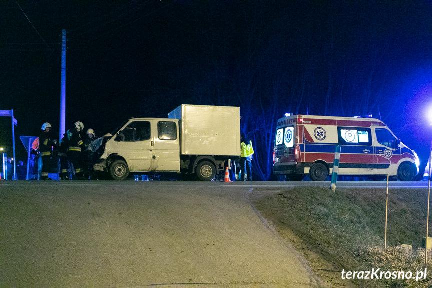 Zderzenie dwóch samochodów w Miejscu Piastowym