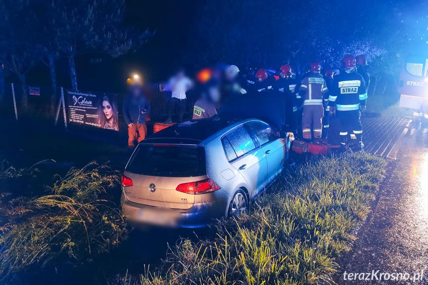 Zderzenie dwóch samochodów w Odrzykoniu na Sportowej