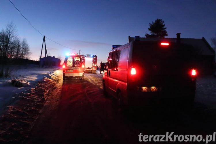 Zderzenie dwóch samochodów w Węglówce
