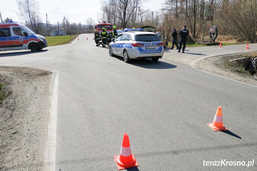 Zderzenie dwóch samochodów w Wietrznie