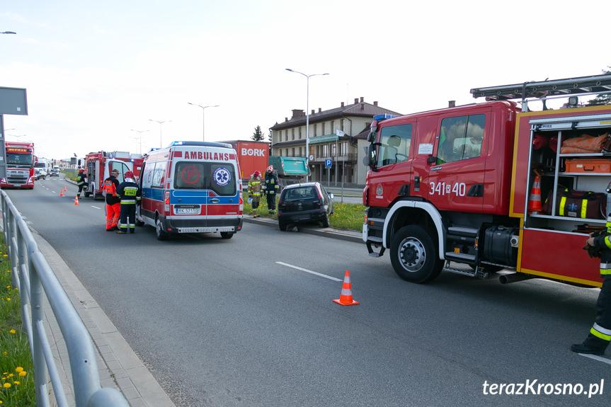 Zderzenie na Bieszczadzkiej w Krośnie