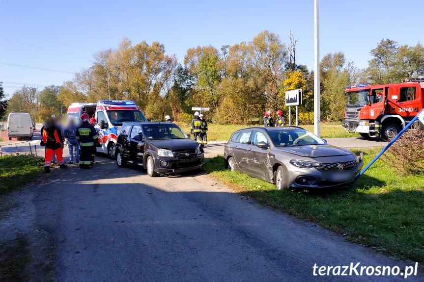 Zderzenie na skrzyżowaniu w Korczynie