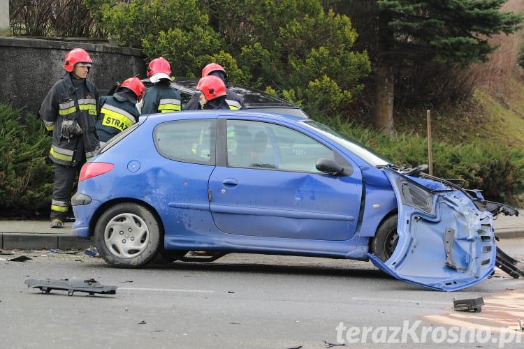 Zderzenie na skrzyżowaniu w Krośnie