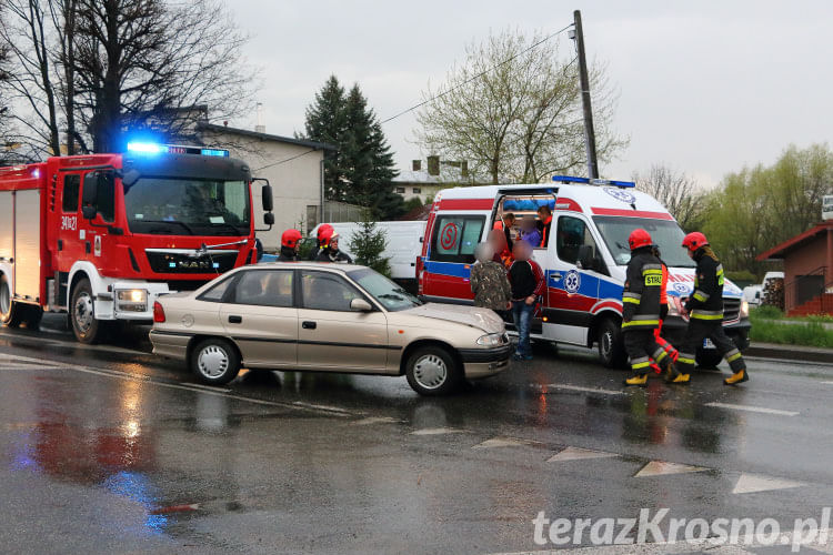 Zderzenie na ul. Krakowskiej w Krośnie
