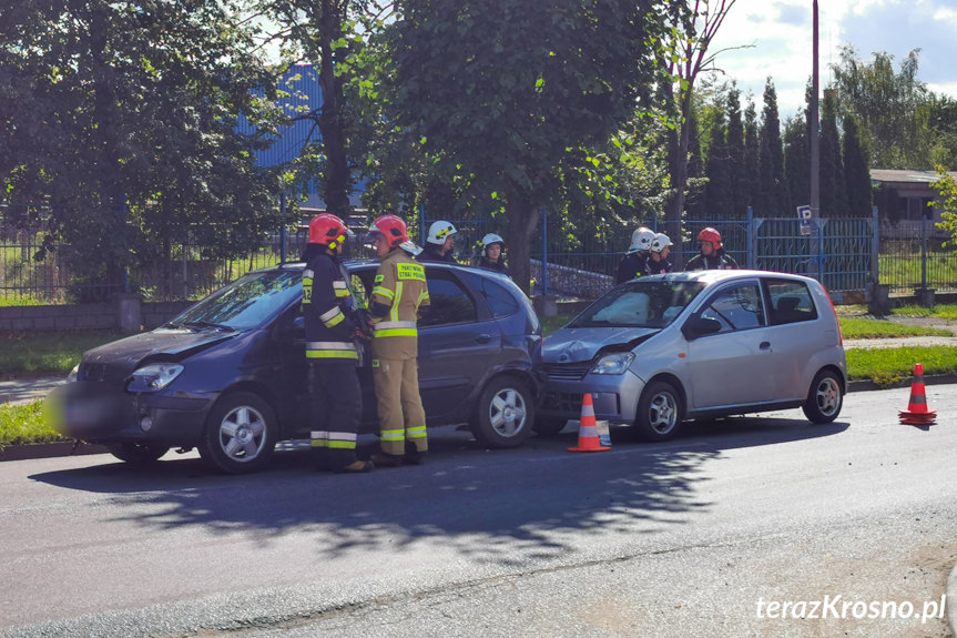 Zderzenie na ulicy Tysiąclecia w Krośnie