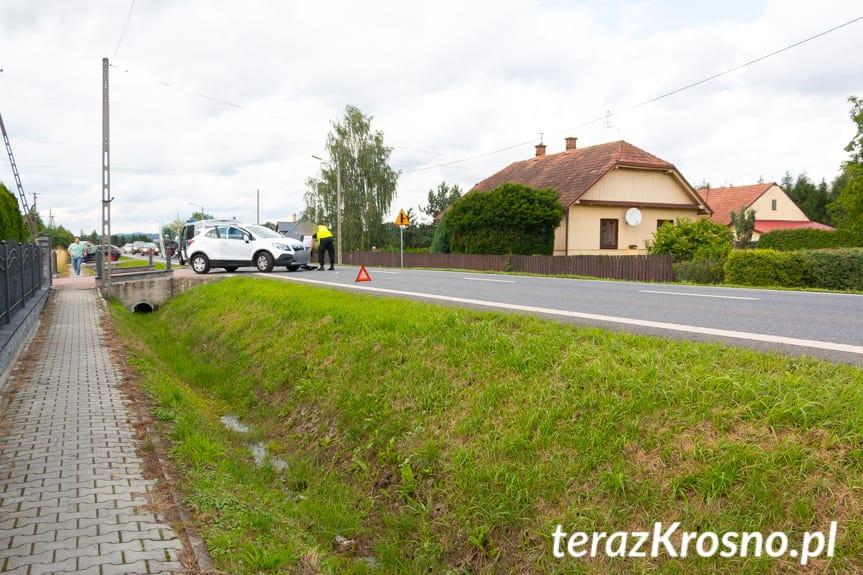 Zderzenie samochodów na Rzeszowskiej