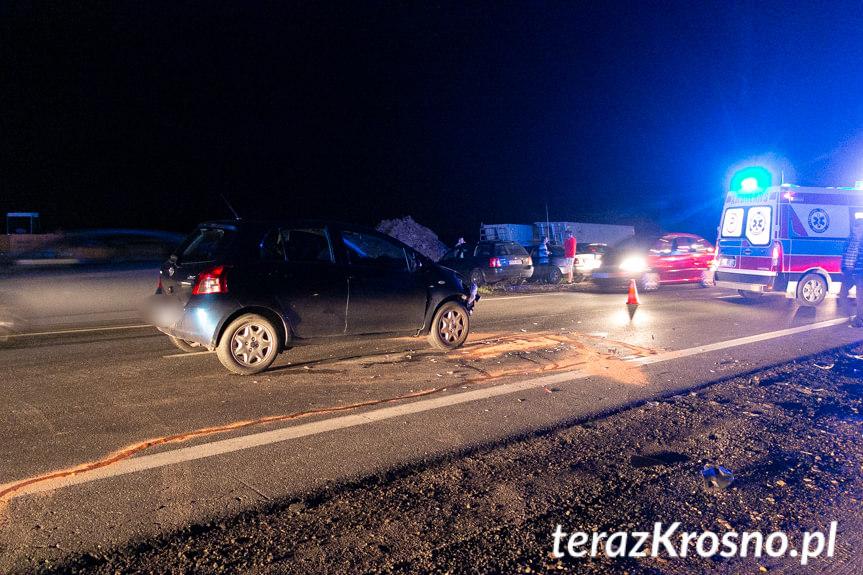 Zderzenie samochodów w Iwoniczu