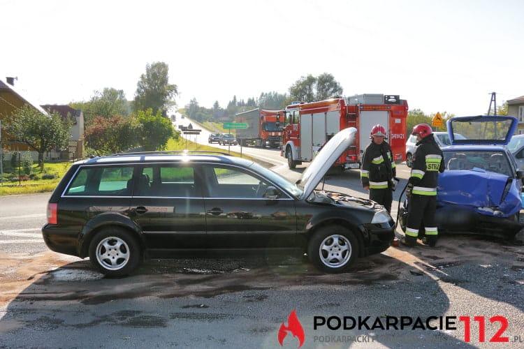 Zderzenie samochodów w Rogach