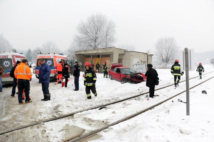 Zderzenie samochodu i pociągu w Jedliczu