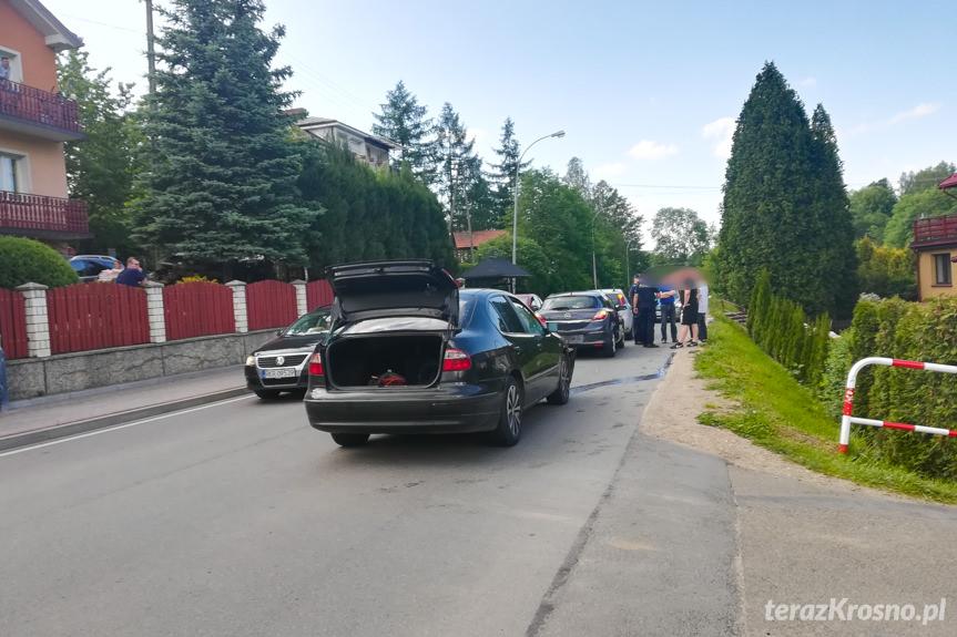 Zderzenie trzech samochodów w Iwoniczu
