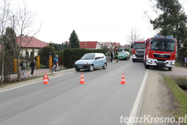 Zderzenie trzech samochodów w Korczynie
