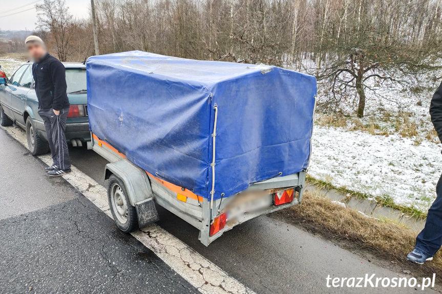 Zderzenie trzech samochodów w Potoku