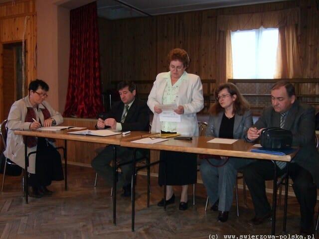 Zebranie wiejskie w Świerzowej Polskiej