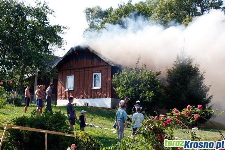 Pożar domu w Kopytowej