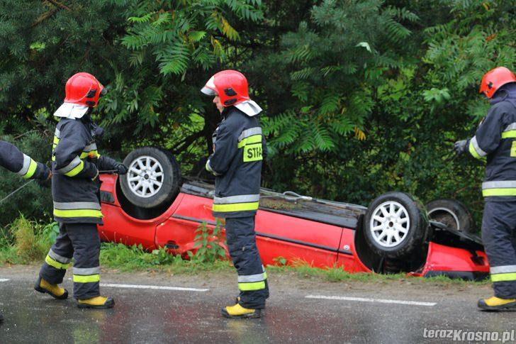 Dachowanie Audi w Węglówce