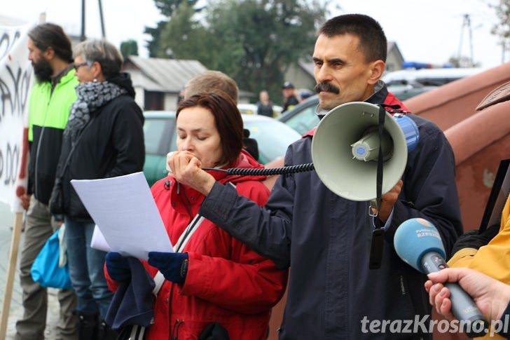Blokada ronda w Miejscu Piastowym